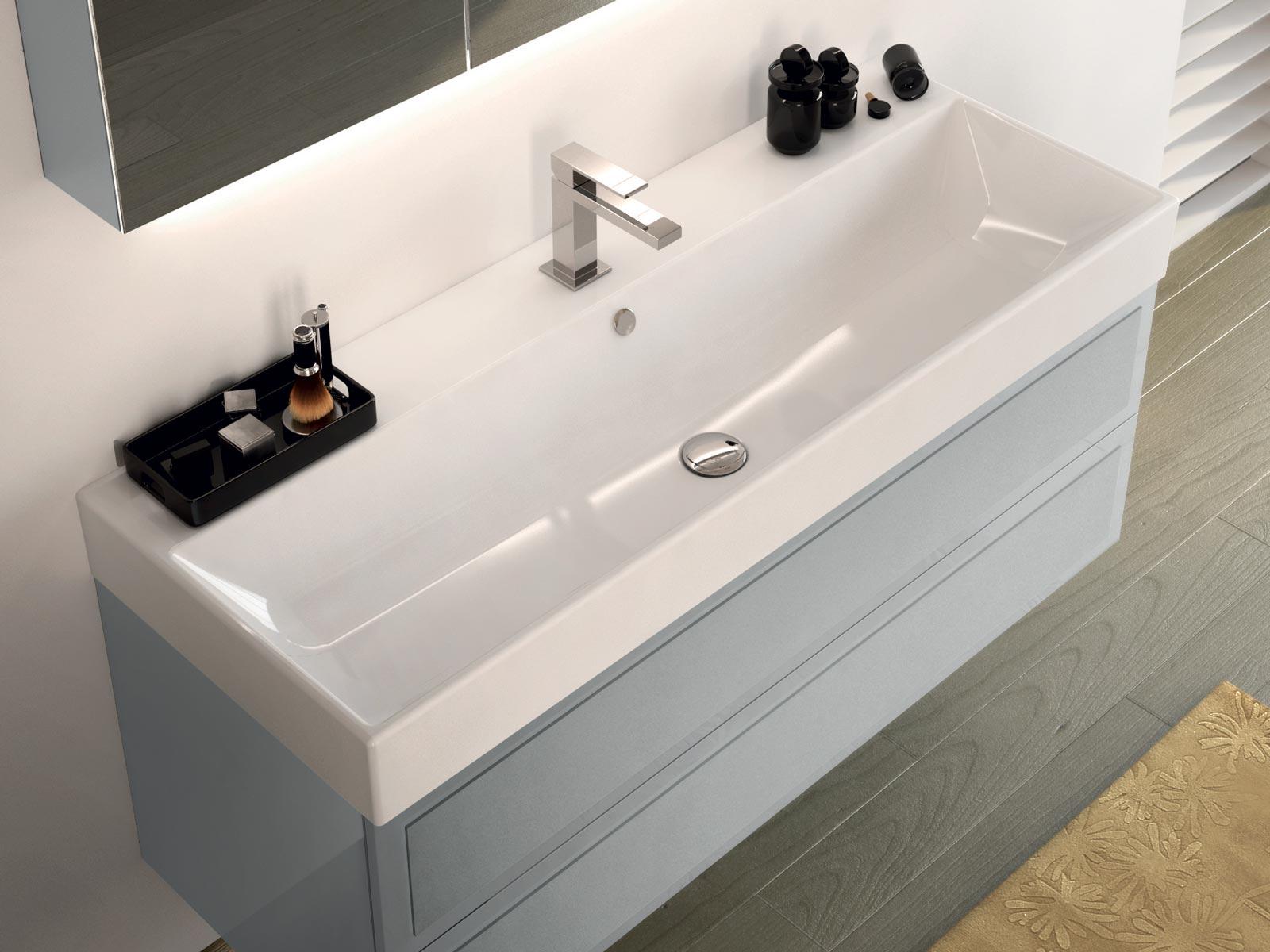 La Collection Elysée - Meuble De Salle De Bains Decotec serapportantà Vasque 100 Cm 2 Robinets