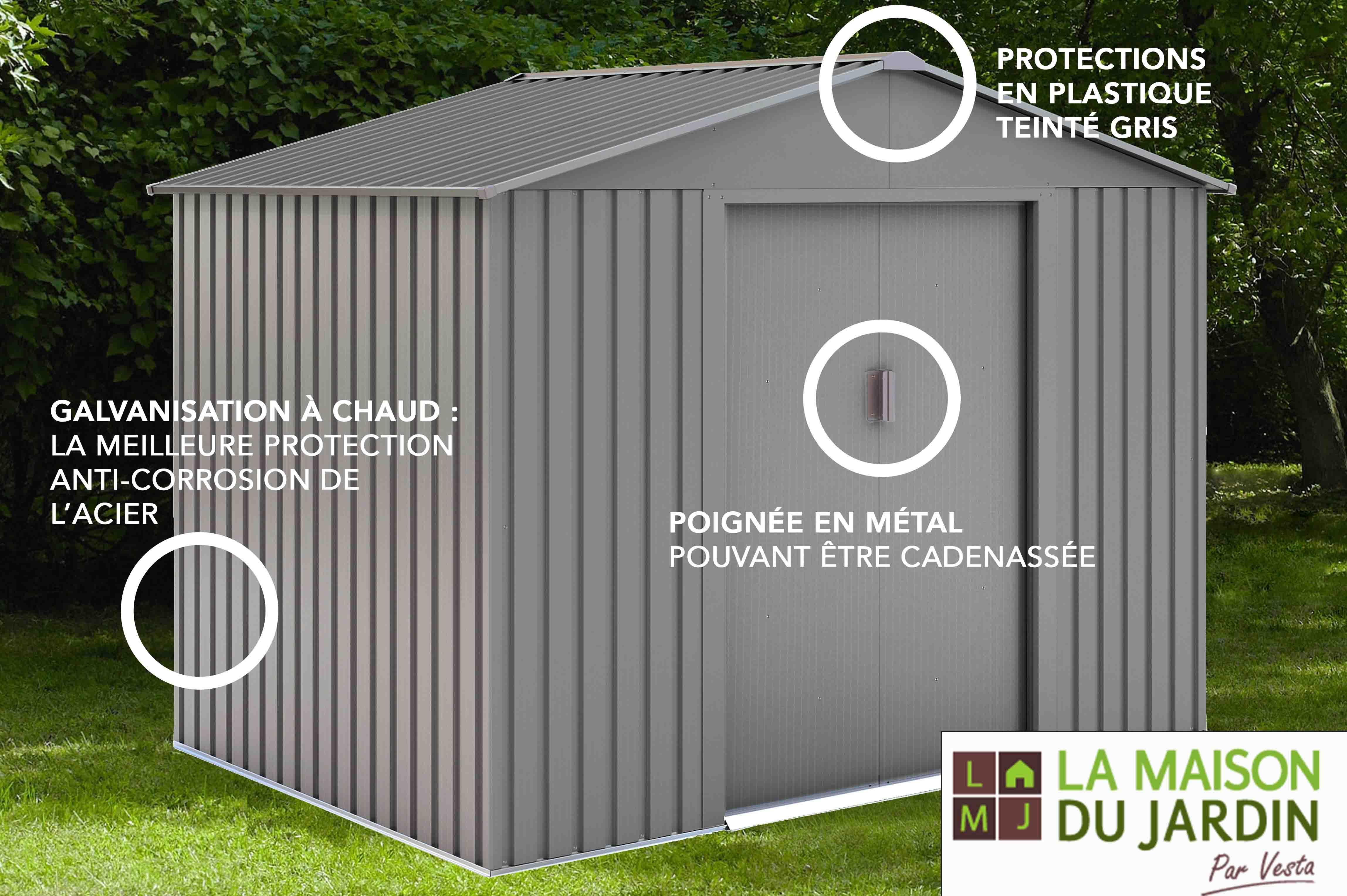 La Maison Du Jardin:chalet & Jardin dedans Abri De Jardin Metal