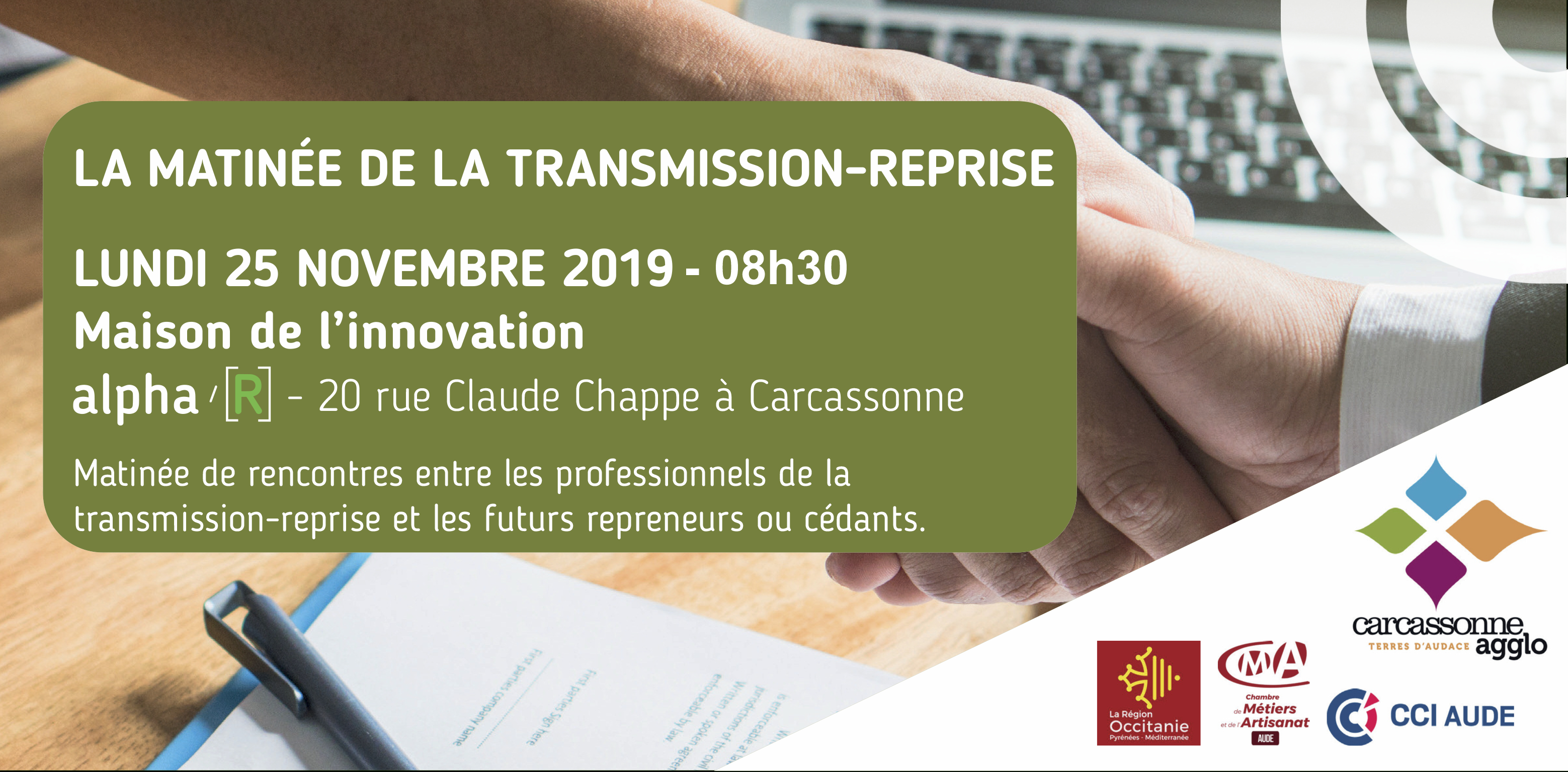 La Matinée De La Transmission-Reprise   Cci Aude destiné Chambre Des Metiers Carcassonne