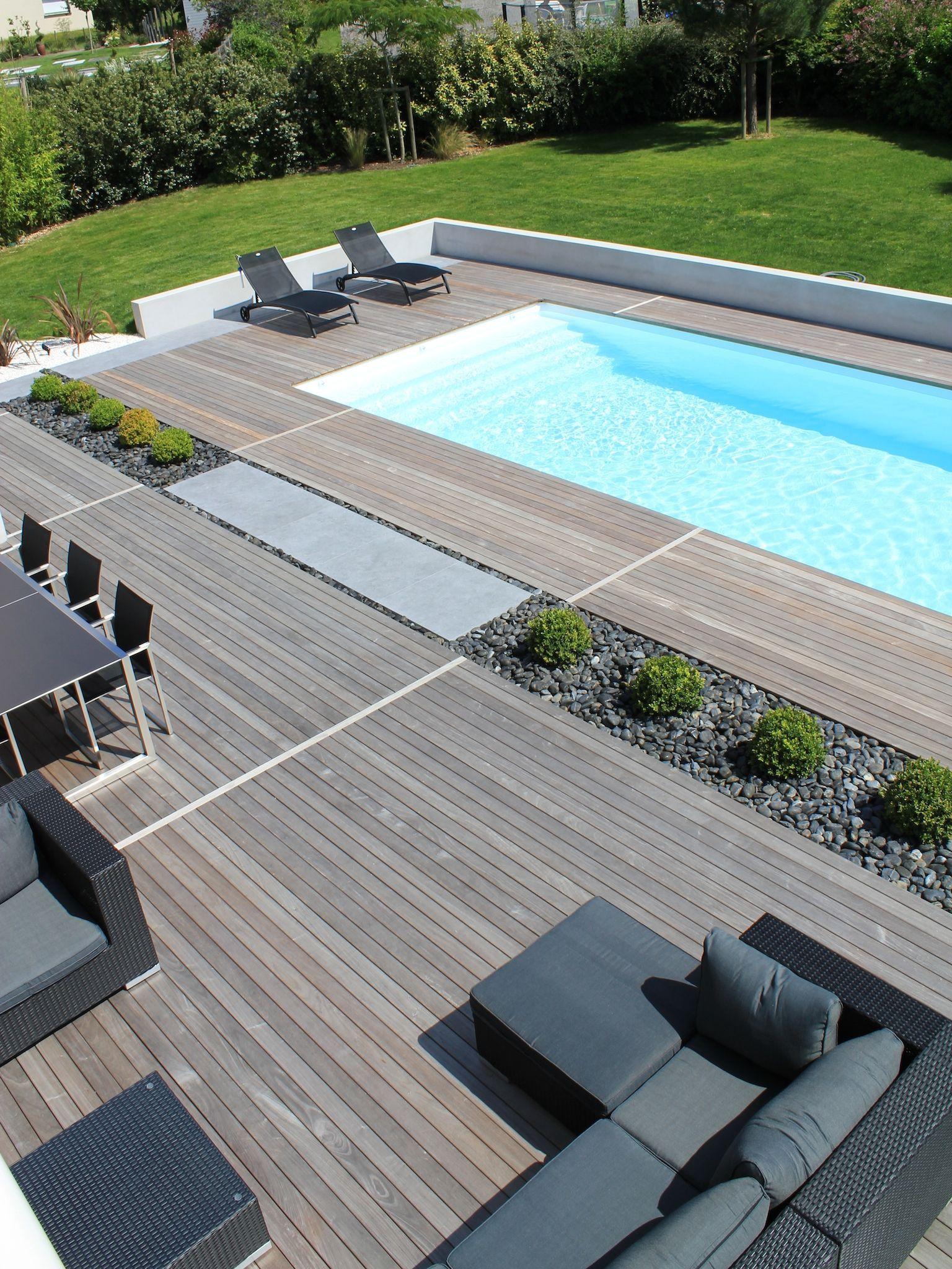 La Piscine Paysagée Par L'Esprit Piscine - 9,5 X 4 M destiné Piscine Sur Terrasse En Hauteur