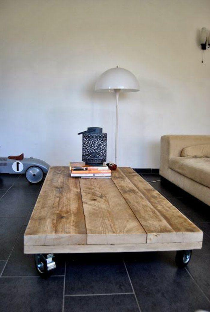 La Table Basse Palette - 60 Idées Créatives Pour La avec Fabriquer Une Coiffeuse En Palette