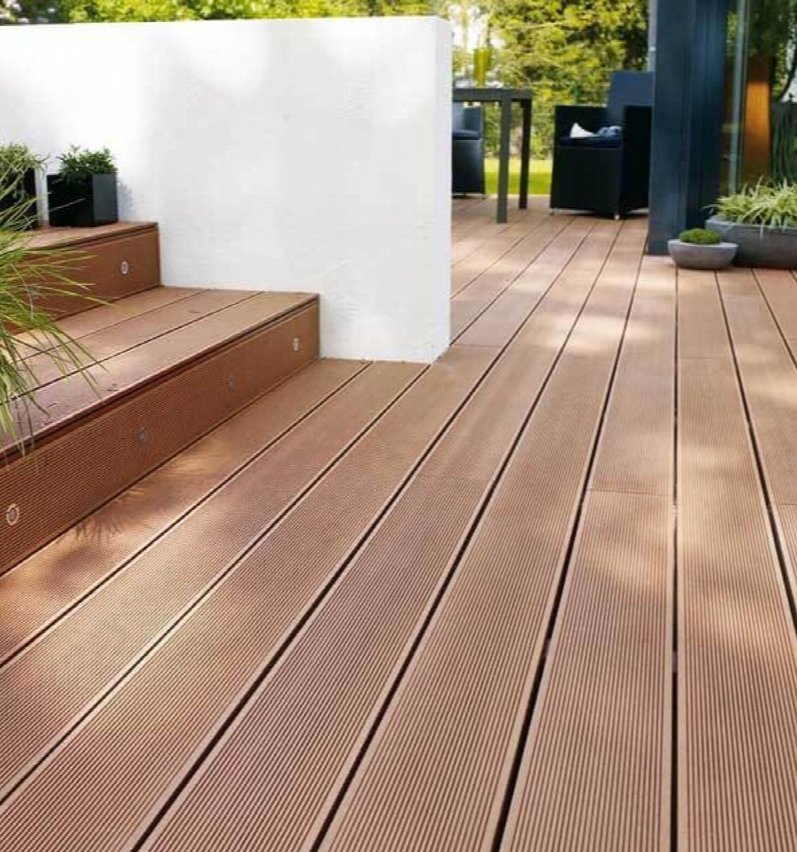 Lame De Terrasse Composite - Marron - Composite tout Destockage Lame De Terrasse Bois