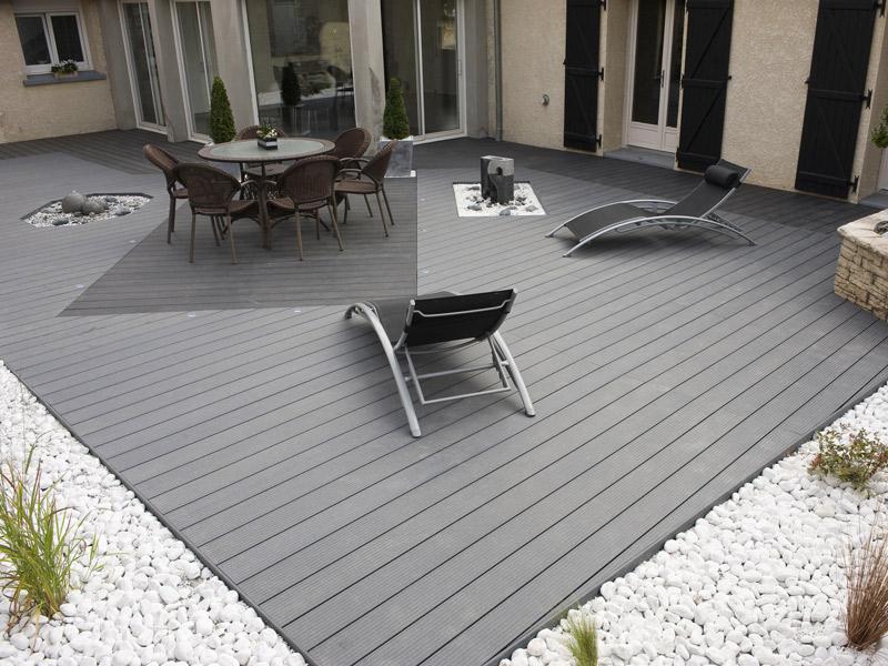 Lame Terrasse Bois Composite Gris Anthracite - Mailleraye concernant Destockage Lame De Terrasse Composite Pas Cher