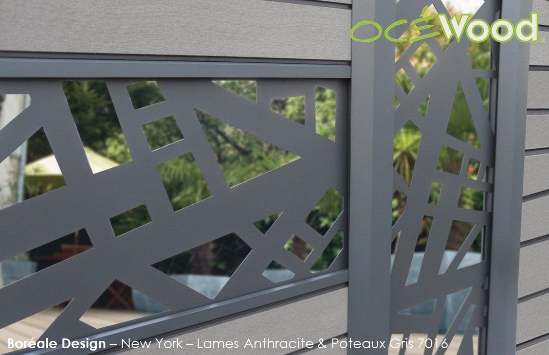 Lames Aluminium Panneaux Composites Océwood®   Cloture Pvc intérieur Panneau Pvc Jardin