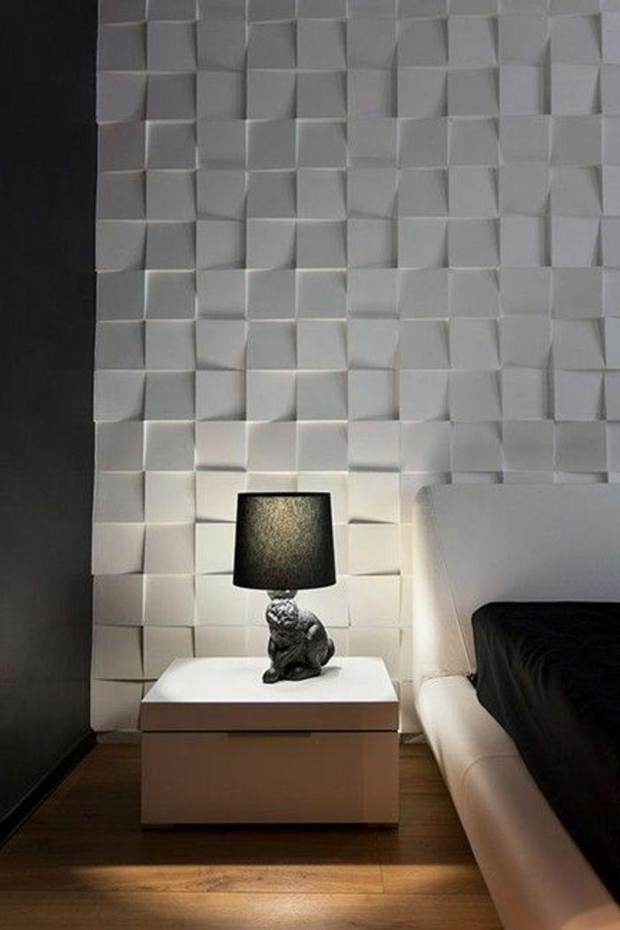 Le Panneau Mural 3D - Un Luxe Facile À Avoir - Archzine.fr encequiconcerne Revetement Mural 3D Castorama