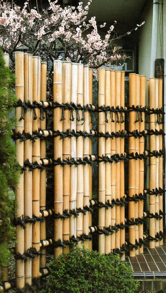 Les Clôtures Traditionnelles Japonaises (2) | Jardin intérieur Déco Jardin Bambou