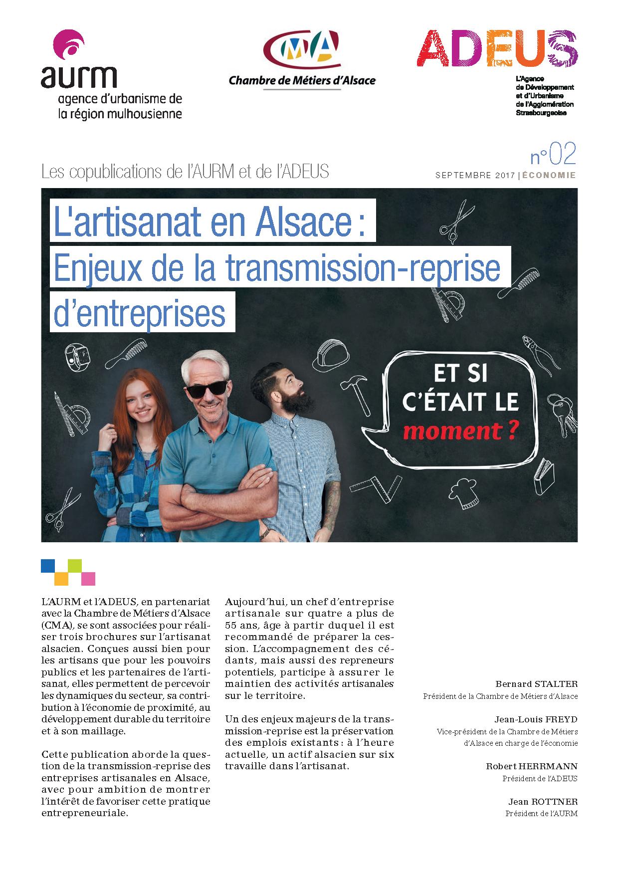 Les Copublications De L'aurm Et De L'adeus N° 02 — Agence De encequiconcerne Chambre Des Métiers D Alsace