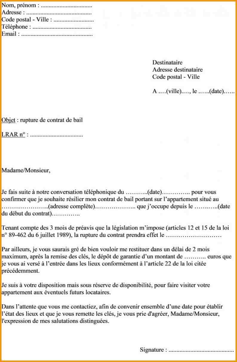 Lettre Préavis Appartement Meublé - Modèle De Lettre encequiconcerne Déclaration Meublé