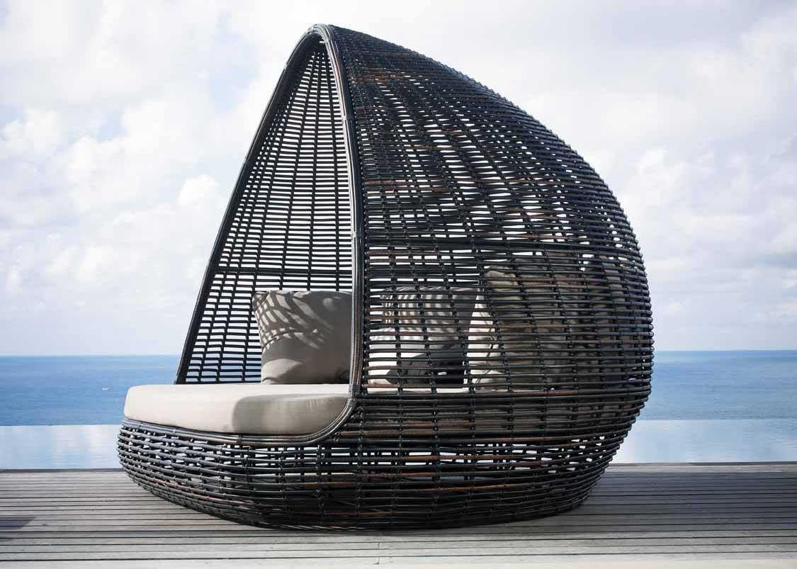 Lit De Jardin Toit Résine Lusso : Luxe Contemporain avec Lit De Jardin Double