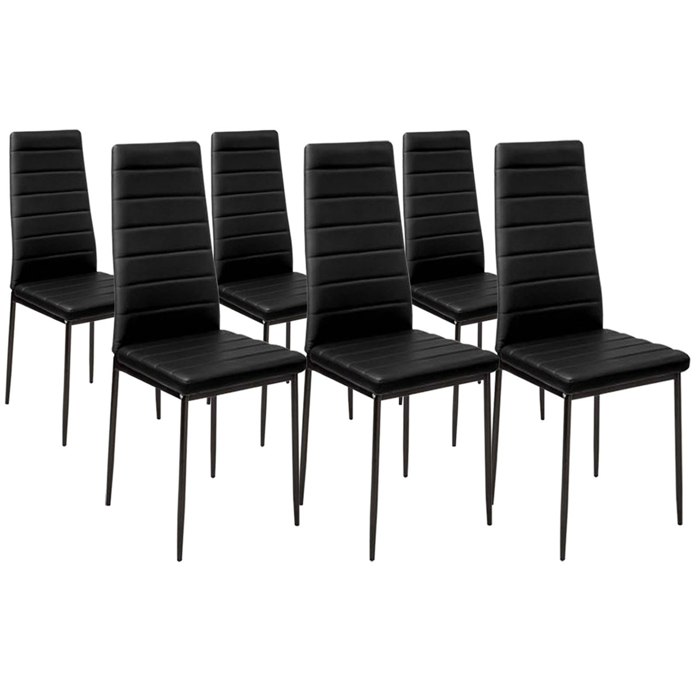 Lot De 6 Chaises Noires Pas Cher Pour Salle À Manger | Id pour Salle À Manger Coussin De Chaise Chambre