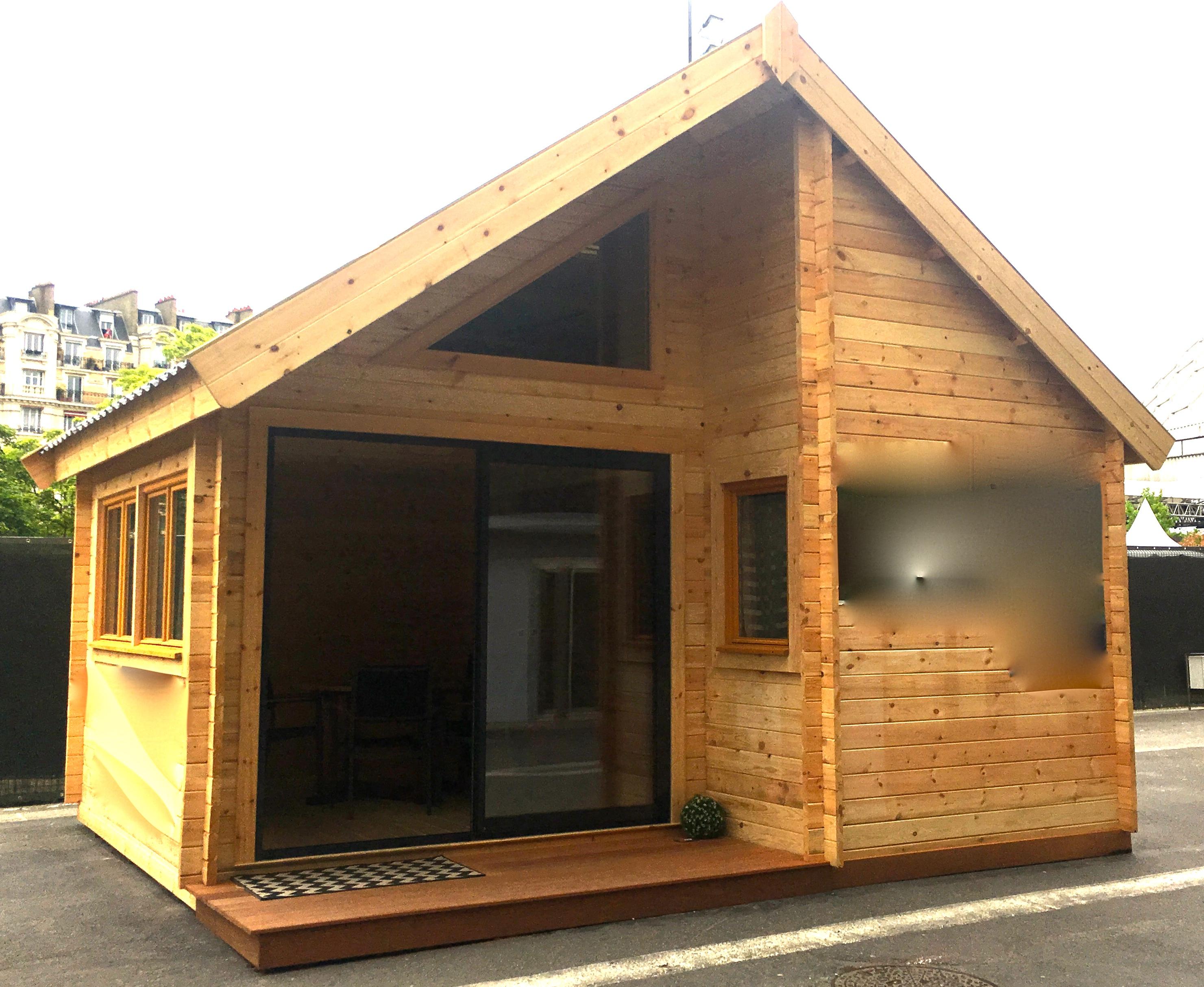 Maison Bois 20M2 Avec Mezzanine | Ventana Blog encequiconcerne Abri De Jardin Habitable Design