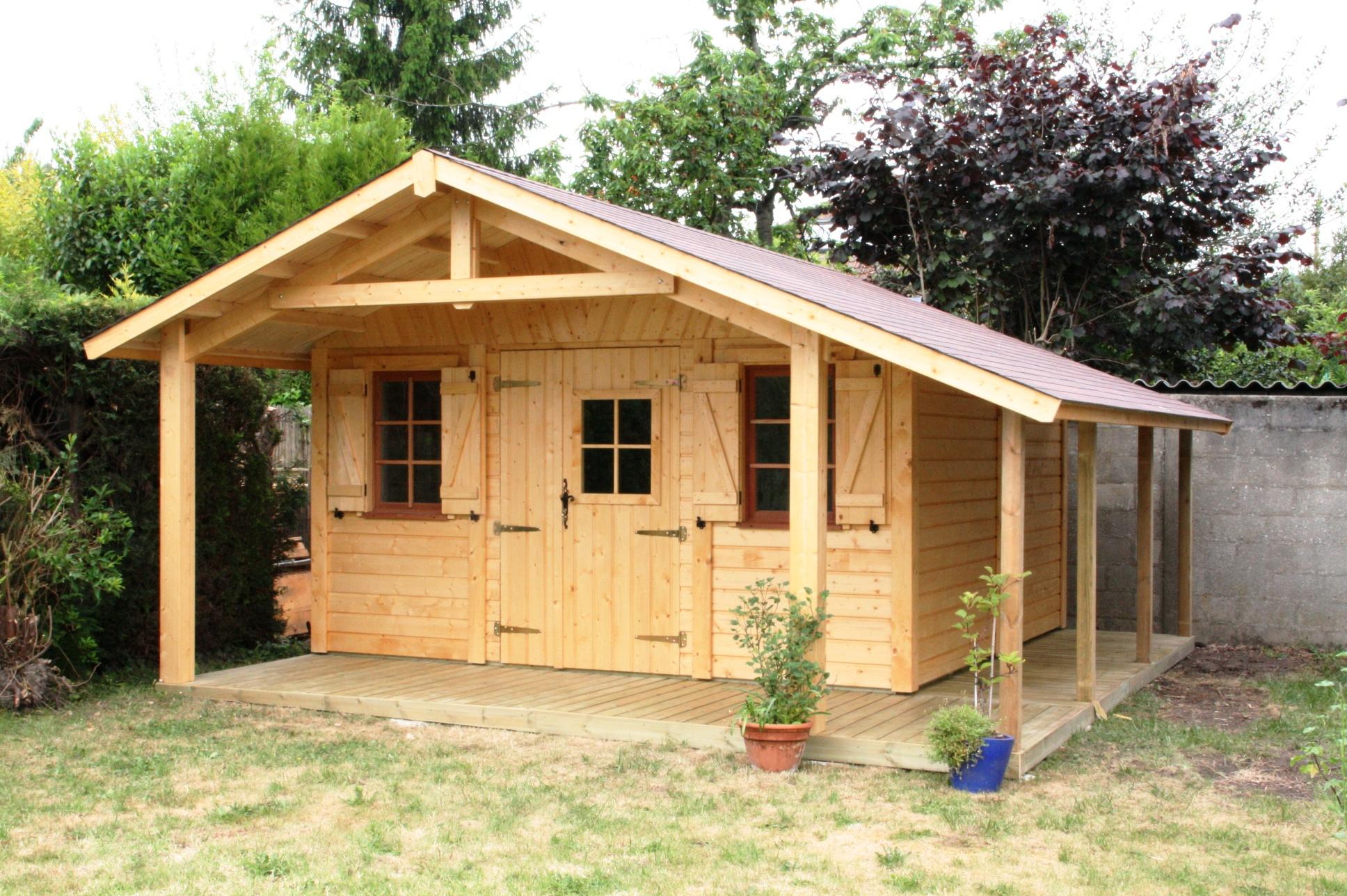 Maison Bois 20M2 Avec Mezzanine | Ventana Blog intérieur Chalet De Jardin 20M2