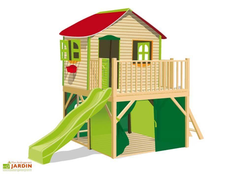 Maison Enfant Bois Et Plastique Fanfan - Maisonnette Ou pour Maison De Jardin Enfant