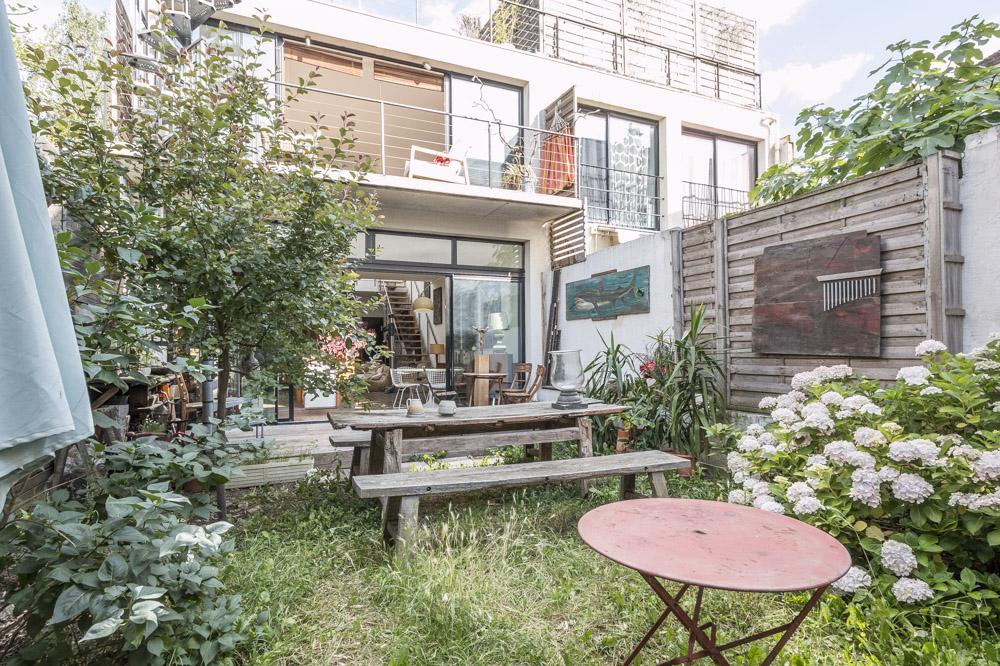 Maison-Loft Avec Jardin Et Toit-Terrasse À Vendre serapportantà Vente Privée Jardin