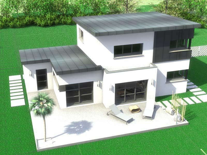 Maison Moderne Toit 1 Pente destiné Pente Toiture Terrasse