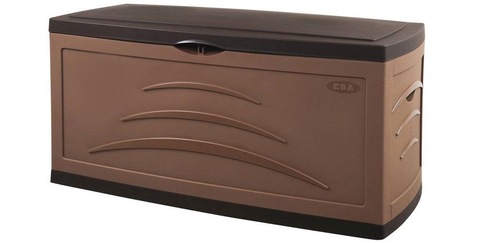 Malle Maxi De Jardin Serena 500 Litres   Couleur Chocolat pour Malle De Jardin