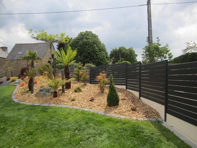 Massif Paysager Moderne. Cool Comment Amnager Son Jardin concernant Parterre Extérieur Moderne