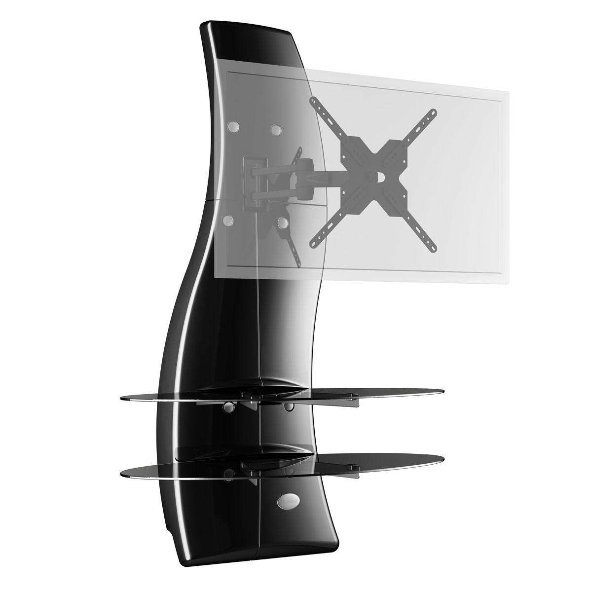 Meliconi Ghost Design 2000 Rotation Noir - Meuble Tv destiné Meuble Tv Avec Support