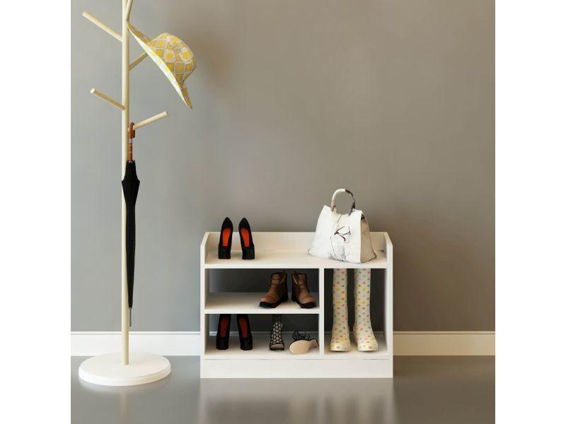 Meuble À Chaussures Design Carla - L. 80 X H. 60 Cm dedans Meuble Carla
