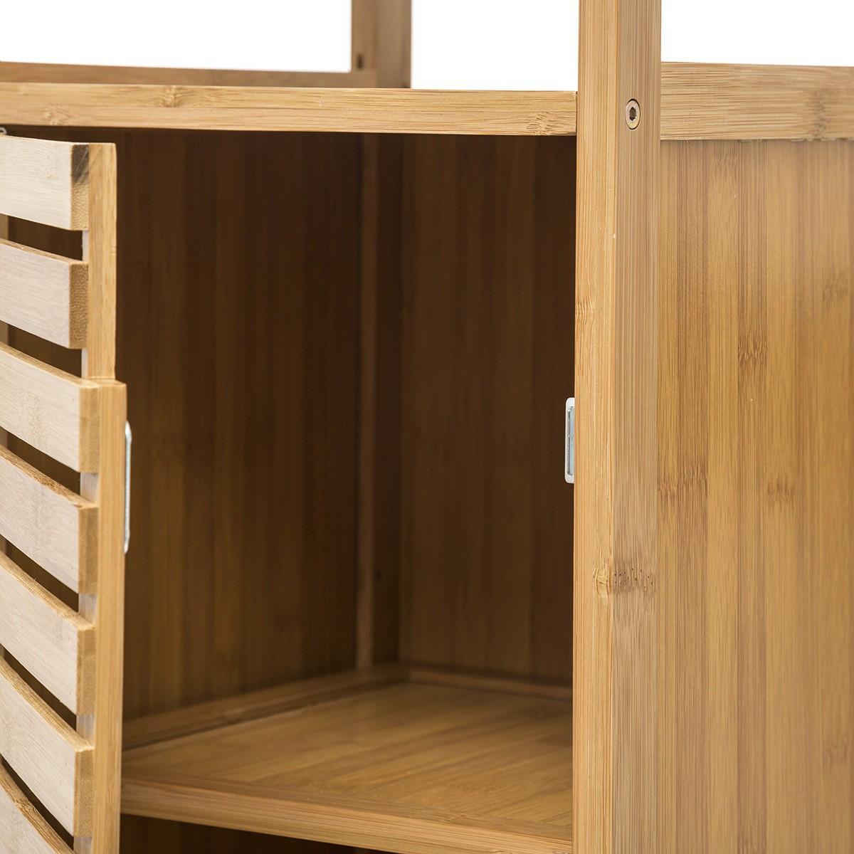 Meuble Bas De Salle De Bain Sicela Bambou - Decoratie.fr pour Meuble Bas
