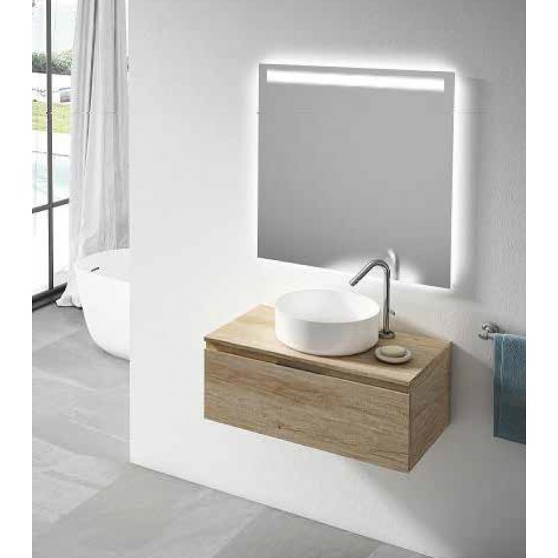 Meuble Bas Rio Avec Plan De Toilette 1 Tiroir - Robinet&Co pour Petit Meuble Avec Tiroir