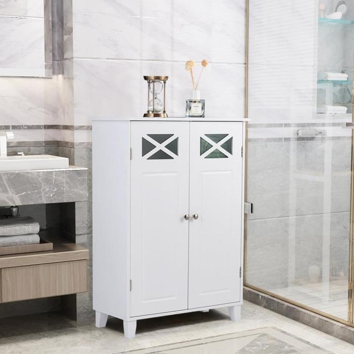 Meuble De Rangement Bas Blanc Salle De Bain avec Meuble Salle De Bain Pas Cher Belgique