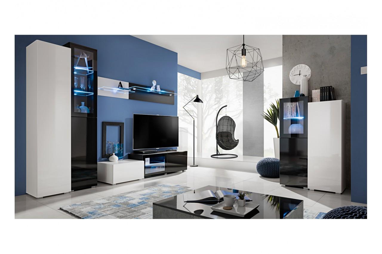 Meuble De Salon Design Pas Cher - Novomeuble serapportantà Meuble Tv Blanc Laqué Pas Cher