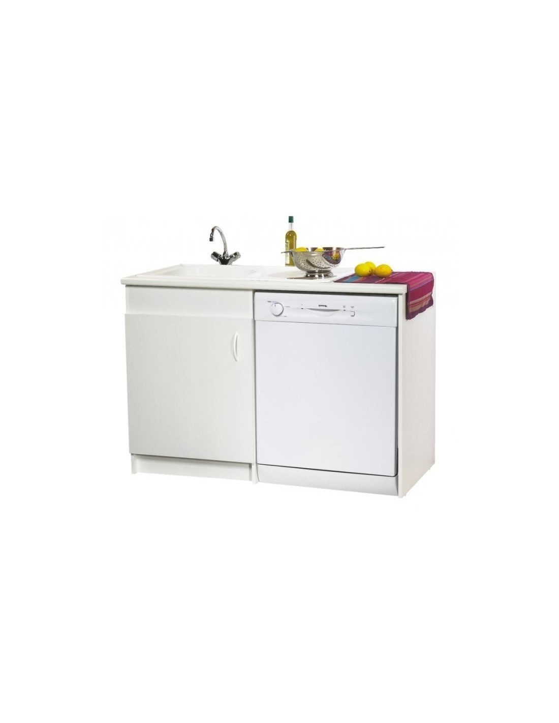 Meuble De Sous-Évier Option Lave Vaisselle 120 X 60 serapportantà Meuble Sous-Évier 120 Brico Dépôt
