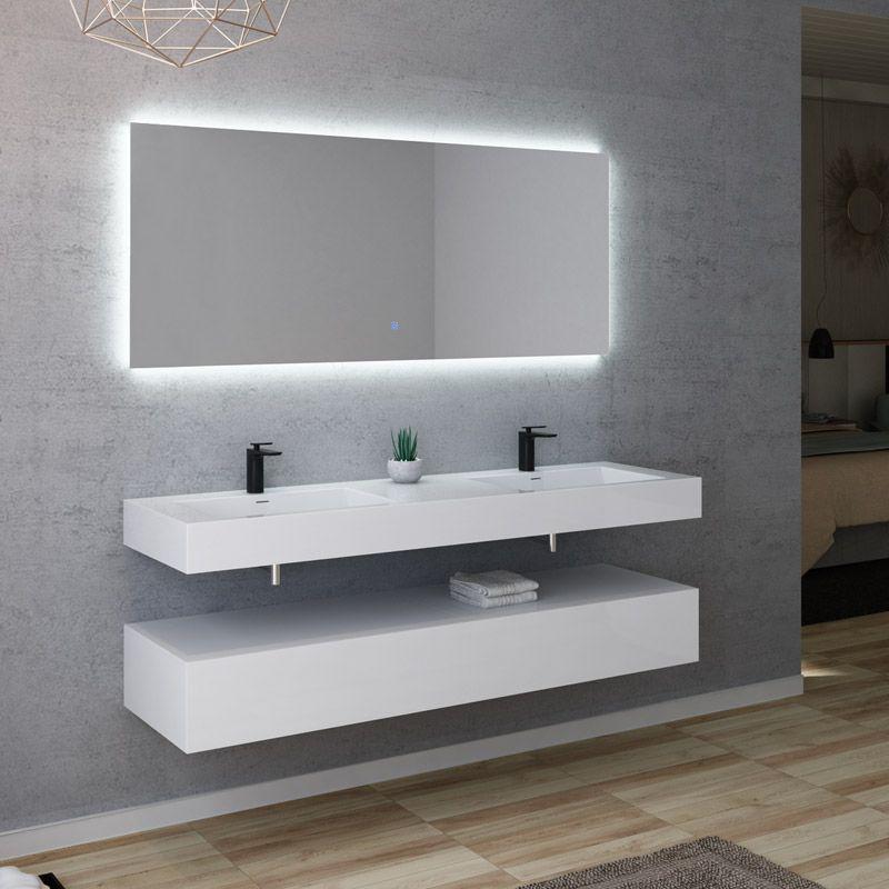 Meuble Double Vasque 160 Cm, Meuble Lavabo 160 Cm, Meuble intérieur Meuble Vasque Design Italien