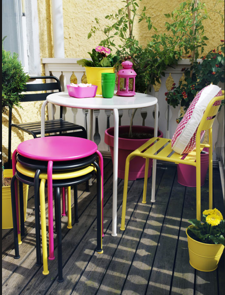 Meuble Jardin, Terrasse, Petit Balcon, Les Tendances avec Mobilier De Jardin Ikea