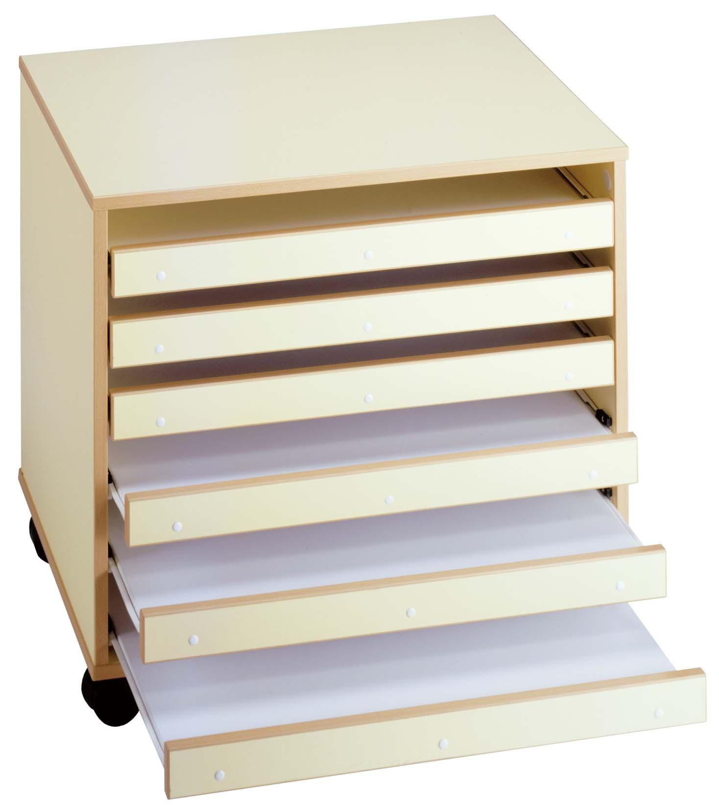 Meuble Papier Dessin 6 Tiroirs - Mobilier Goz dedans Meuble A Papier