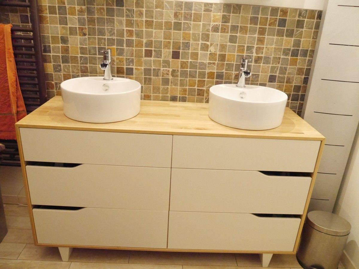 Meuble Salle De Bain Double Vasque | Diy Bathroom serapportantà Ikea Salle De Bains