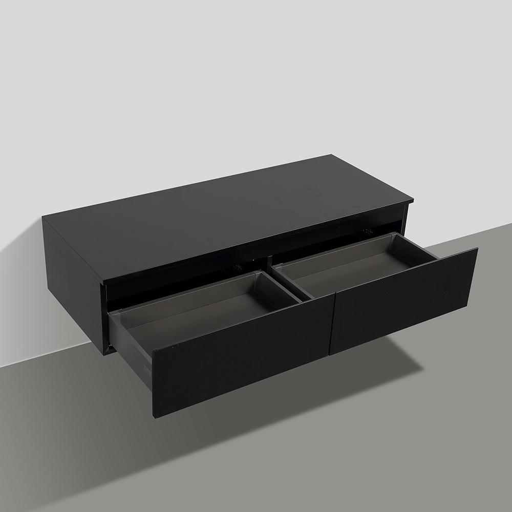 Meuble Salle De Bains Design Sheda Disponible En 120 Cm X 48 Cm à Meuble Salle De Bain Noir Mat