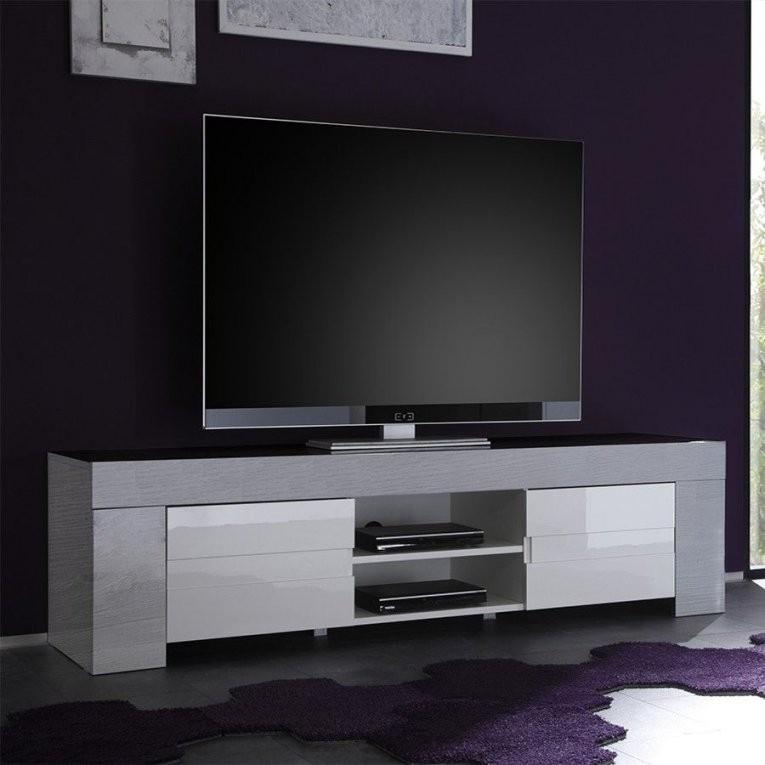 Meuble Tele Design Laque Blanc | Plan De Maison concernant Meuble Télé Blanc Laqué