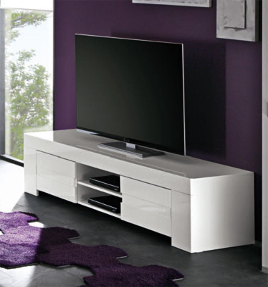 Meuble Tele Laque Blanc encequiconcerne Meuble Tv Blanc Laqué Pas Cher