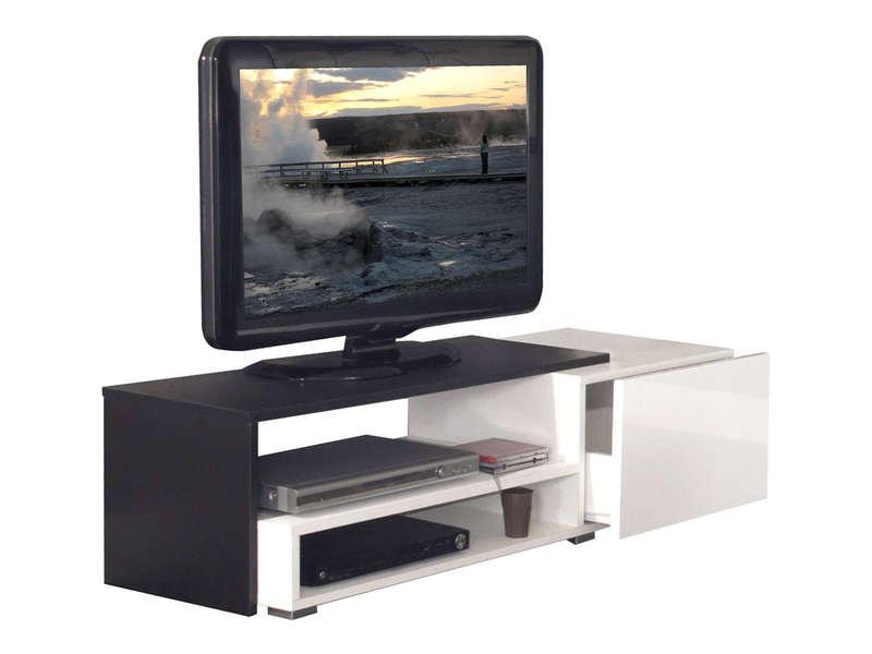 Meuble Tv 1 Tiroir Sur Coulisse+2 Niches Rubis Coloris tout Meuble Tv Conforama