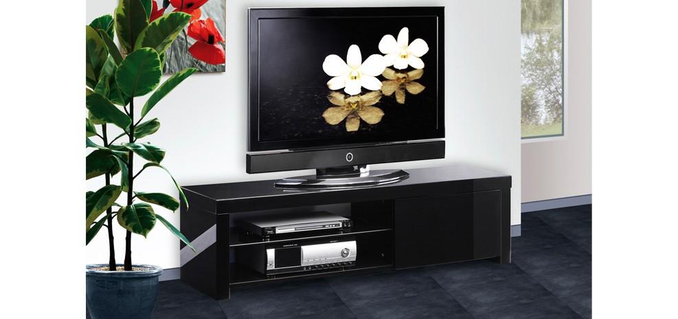 Meuble Tv Atlas Noir : Adoptez Nos Meubles Tv Atlas Noirs dedans Meuble Tv Noir Haut