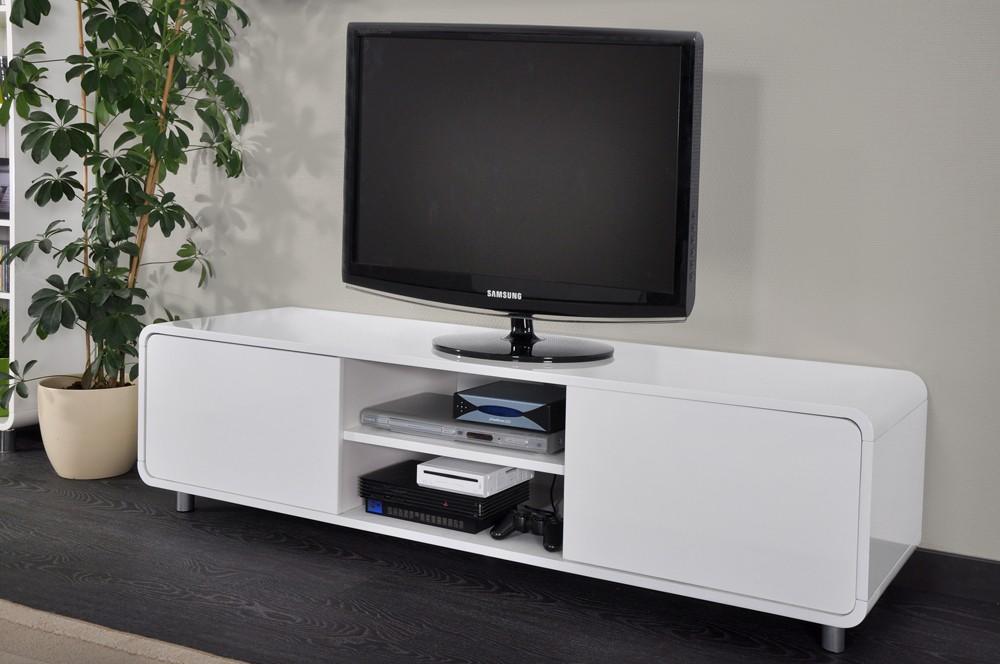 Meuble Tv Bas Laque destiné Meuble Télé Blanc Laqué