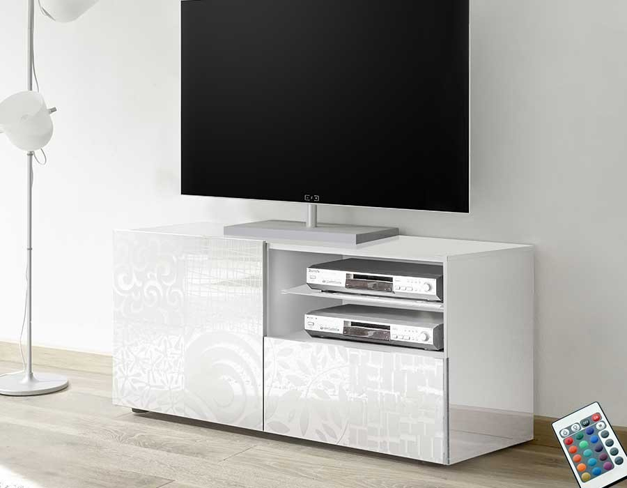 Meuble-Tv-Blanc-Design-Elda_Zd1_1_1 avec Meuble Télé Blanc Laqué