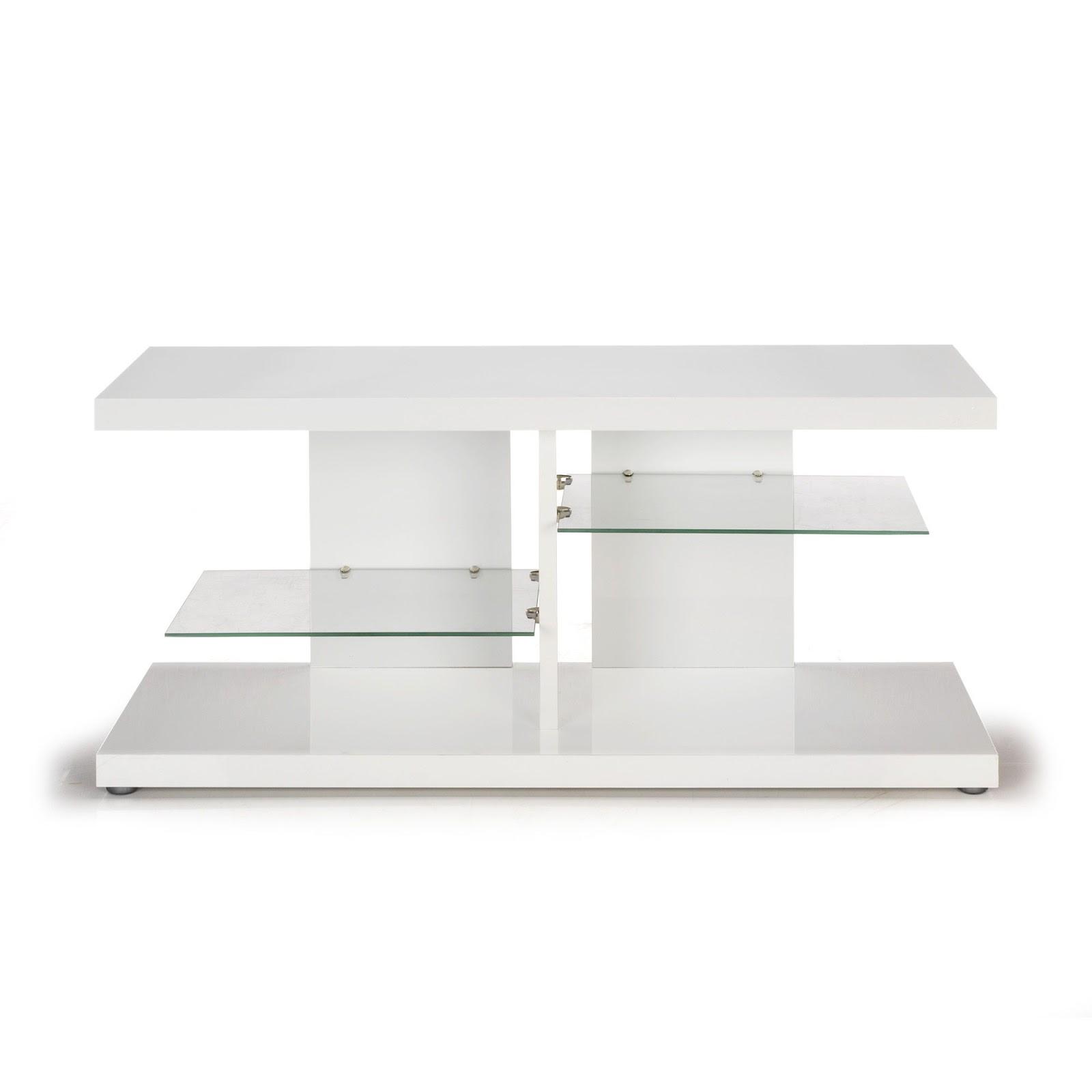 Meuble Tv Blanc Laqué Alinea – Table De Lit A Roulettes à Meuble Tv Alinea