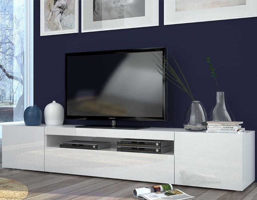 Meuble-Tv-Blanc-Laque-Design-200-Galena_Zd1_2 concernant Meuble Tv Blanc Laqué Pas Cher