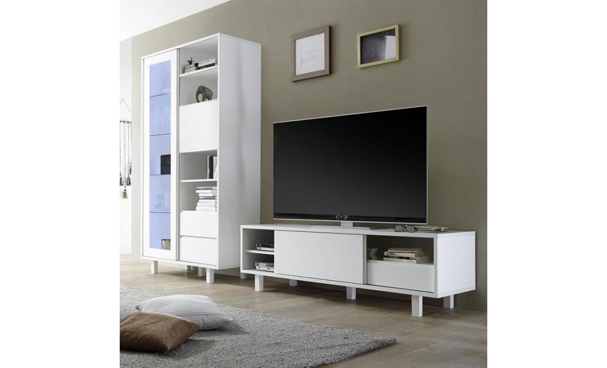 Meuble Tv Blanc Laqué Pas Cher - AgenceCormierDelauniere ...