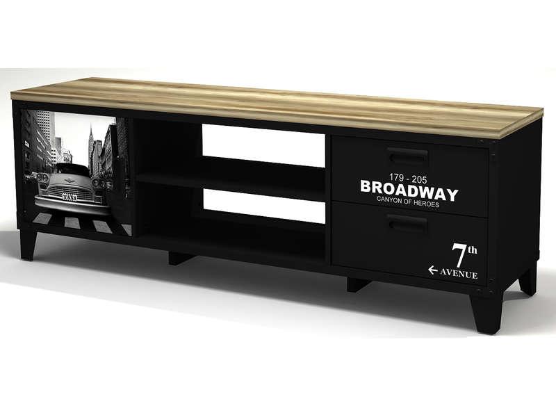 Meuble Tv Broadway - Vente De Meuble Tv - Conforama à Meuble Tv Conforama