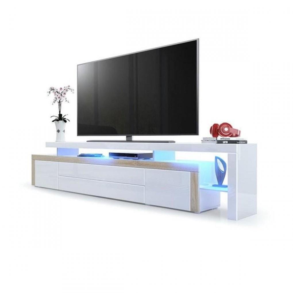 Meuble Tv Chene Blanc Laque Achat Vente Pas Cher De Meuble serapportantà Meuble Tv Blanc Laqué Pas Cher