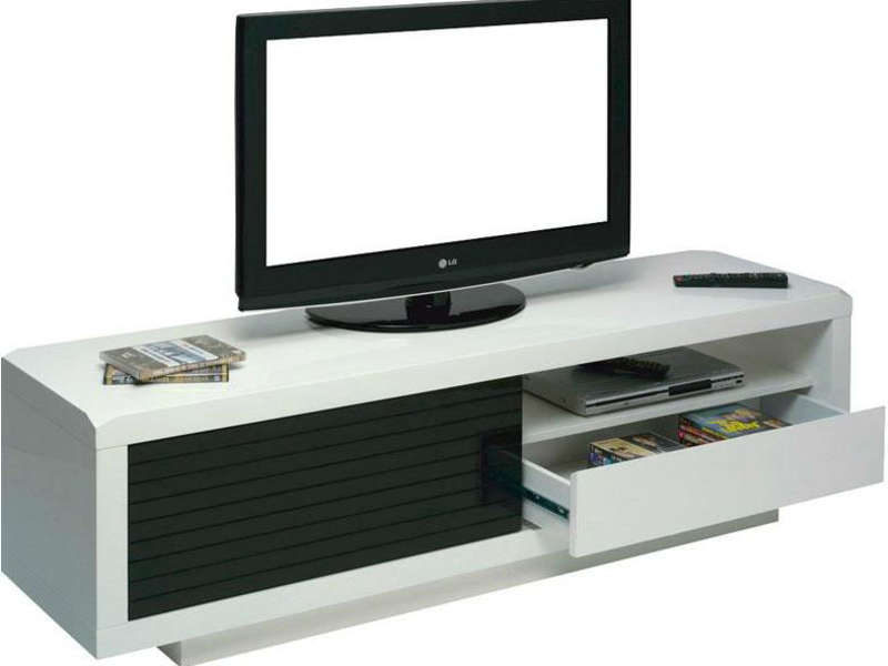 Meuble Tv Clip Coloris Noir Et Blanc Vente De Meuble Tv Encequiconcerne Meuble Tele Conforama Agencecormierdelauniere Com Agencecormierdelauniere Com