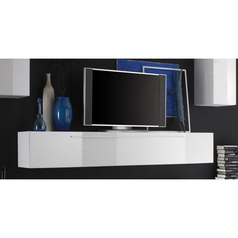 Meuble Tv D Angle Laqué Blanc | Idées De Décoration encequiconcerne Meuble Télé Blanc Laqué