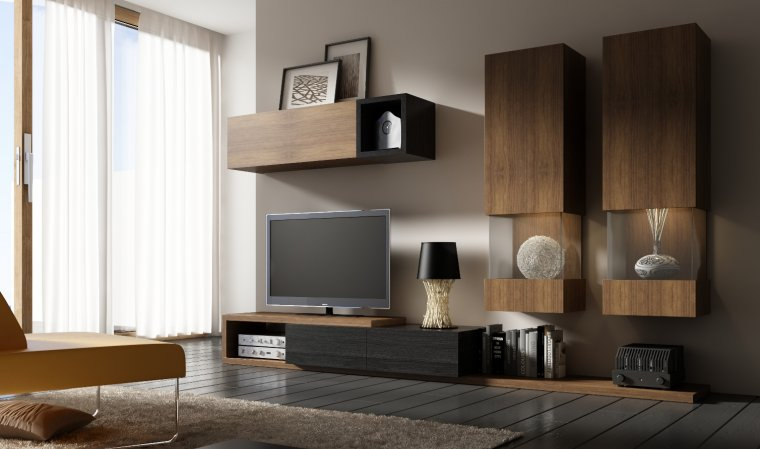 Meuble Tv Design Moderne concernant Meuble Tele Moderne