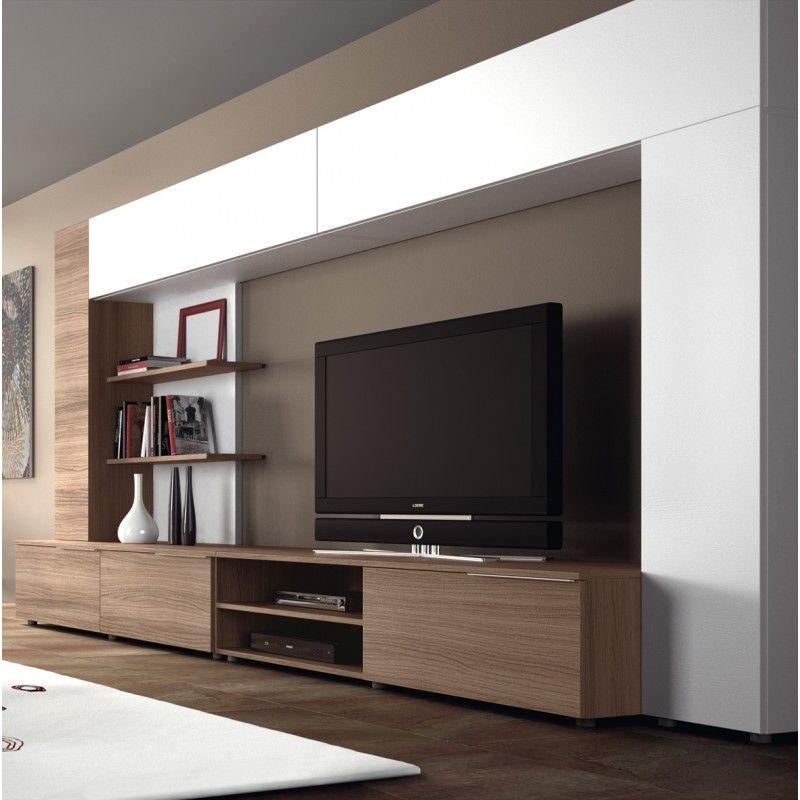 Meuble Tv Design Mural Ingrazia Atylia | Living Room avec Meubles Tv But