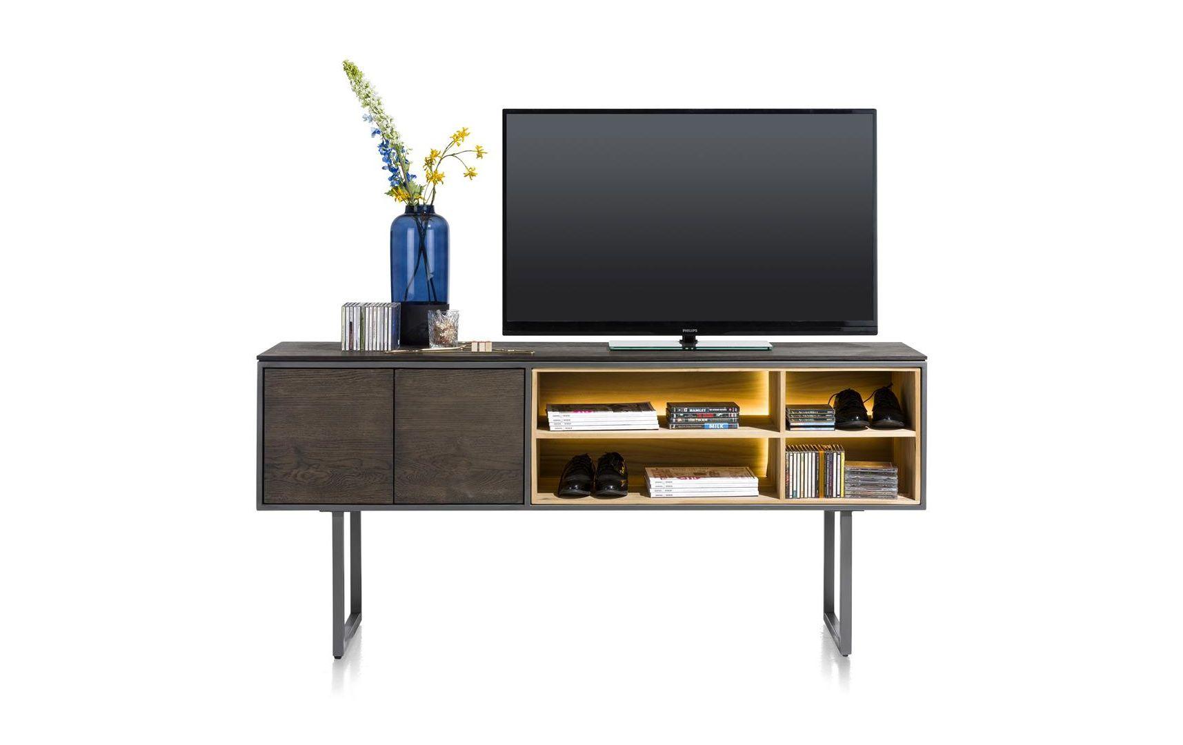 Meuble Tv Haut Moniz 180 Cm + Led - Xooon - Livraison destiné Meuble Tv Haut