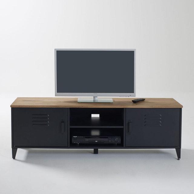 Meuble Tv Hiba Noir La Redoute Interieurs | La Redoute tout Meuble Tv But